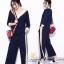 เสื้อผ้าเกาหลีพร้อมส่ง เสื้อคอวีกล้างกับกางเกง thumbnail 5