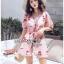 เสื้อเกาหลี พร้อมส่ง เสื้อผ้าคอตตอนปักลายดอกกุหลาบ thumbnail 6