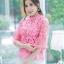 เสื้อเกาหลี ผ้าลูกไม้ ลายดอกกุหลาบ พร้อมส่ง thumbnail 14