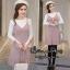 ชุดเดรสเกาหลี พร้อมส่ง MINI dress ไหมพรม thumbnail 4