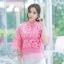 เสื้อเกาหลีลูกไม้คอปีน พร้อมส่ง thumbnail 3