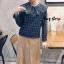 เสื้อเกาหลี พร้อมส่ง Pretty Scott Blouse เสื้อลายสก็อต thumbnail 1