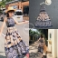 เดรสเกาหลี พร้อมส่ง เดรสตัวยาว ลายผ้าคมชัด ชีฟอง thumbnail 4