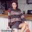 เสื้อเกาหลี ไหมพรมคอกลม พร้อมส่ง thumbnail 1