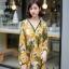 ชุดเดรสเกาหลี พร้อมส่ง เดรสลายดอก คอวี ผ้าพริ้ว thumbnail 8