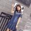 พร้อมส่ง DRESS JEAN FROM KOREA คอกลม thumbnail 3
