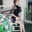 พร้อมส่ง Dress ชุดเดรสโทนสีดำ thumbnail 6