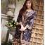 ชุดเดรสเกาหลี พร้อมส่ง Dress งานปริ้นลาย thumbnail 4