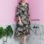 เดรสเกาหลี พร้อมส่ง Kimono flora เดรสกิโมโน thumbnail 3