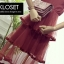 เดรสเกาหลี พร้อมส่ง Mini dress ระบายชีทู 3 ชั้น thumbnail 16