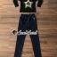 เสื้อผ้าเกาหลี พร้อมส่ง เสื้อแขนสามส่วนกับกางเกงเอวสม็อค thumbnail 2