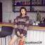 เสื้อเกาหลี ไหมพรมคอกลม พร้อมส่ง thumbnail 5