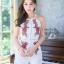 เสื้อผ้าแฟชั่นเกาหลี จั้มสูทปักดอกกุหลาบ พร้อมส่ง thumbnail 8