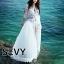พร้อมส่ง Maxi dress ยาวสีขาว ผ้ามุ้ง thumbnail 5