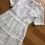 พร้อมส่ง เดรสยาวผ้าลูกไม้สีขาวสไตล์เจ้าหญิง thumbnail 9
