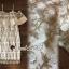 พร้อมส่ง ชุดเดรสผ้าลูกไม้ทอลายดอกไม้ thumbnail 2
