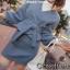 เสื้อผ้าเกาหลี พร้อมส่ง เสื้อแขนพองกับกระโปรงทรงเอ thumbnail 1