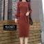 ชุดเดรสเกาหลี พร้อมส่ง Dress ผ้าไหมพรมงาน Knit thumbnail 1