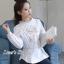 พร้อมส่ง เสื้อสไตส์เกาหลี งานปักแน่น thumbnail 3