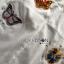 พร้อมส่ง เสื้อแฟชั่น เชิ้ตมีปกสีขาวปักลายผีเสื้อ thumbnail 12