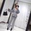 เสื้อผ้าเกาหลี พร้อมส่ง เสื้อกับกางเกงขาม้าลายริ้ว thumbnail 3