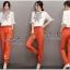 พร้อมส่ง ชุดเซตเสื้อกับกางเกงสีส้ม thumbnail 5