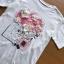 เสื้อเกาหลี พร้อมส่ง ทีเชิ้ตสีขาวปักดอกไม้ thumbnail 8