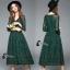 พร้อมส่ง Long dress ลูกไม้ยาว คอวี thumbnail 7