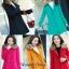 เสื้อเกาหลี พร้อมส่ง เดรสโค๊ทขนเฟอร์ thumbnail 4