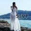 พร้อมส่ง Maxi dress ยาวสีขาว ผ้ามุ้ง thumbnail 1