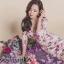 เดรสเกาหลี พร้อมส่ง เดรสดอกไม้หวานเปรี้ยว thumbnail 4