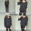 เสื้อผ้าเกาหลี พร้อมส่ง เสื้อลายริ้วกับกางเกงสกินนี่ thumbnail 4