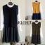 เสื้อผ้าเกาหลี Set 2 ชิ้น เดรสแขนยาว คอปีน thumbnail 13