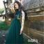 ชุดเดรสเกาหลี พร้อมส่ง Maxi Dress แขนยาว คอปก thumbnail 4