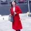 พร้อมส่ง เสื้อโค้ทสีแดงตัวยาว ดูแพง thumbnail 4