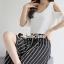 เสื้อผ้าเกาหลี พร้อมส่ง เสื้อสีดำเกงจุด เสื้อสีขาวเกงริ้ว thumbnail 9
