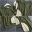 เสื้อผ้าเกาหลี พร้อมส่ง เสื้อกับกางเกงเอวยางยืด thumbnail 9