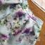 พร้อมส่ง เซ็ตเสื้อคอกลมและกระโปรงสีฟ้าลายดอกไม้ thumbnail 17