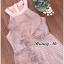 เดรสเกาหลี พร้อมส่ง Dress คล้องคอสีชมพู thumbnail 3