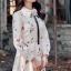 ชุดเดรสเกาหลี พร้อมส่ง Dress ยาว สีครีม thumbnail 3