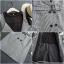 เสื้อผ้าเกาหลี พร้อมส่ง เสื้อผ้ายืด+เอี้ยมกระโปรงทรงสูท thumbnail 6