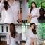 พร้อมส่ง Maxi dress ยาวสีขาว thumbnail 4