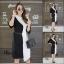 เดรสเกาหลี พร้อมส่ง Long Dress เดรสทูโทน ตัวยา thumbnail 18