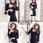 เดรสเกาหลี Dress ผ้าร่องไหมพรม พร้อมส่ง thumbnail 5