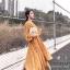 ชุดเดรสเกาหลี พร้อมส่ง เดรส มีน้ำหนักทิ้งตัวลายดอกไม้ thumbnail 7