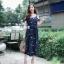 ชุดเดรสเกาหลี พร้อมส่ง dress ปักลายดอกไม้ thumbnail 4