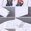 เสื้อเกาหลี พร้อมส่ง เสื้อตัวยาว ทรงตรง ปักดอกไม้ thumbnail 19