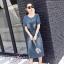 ชุดเดรสเกาหลี พร้อมส่ง เดรสผ้ายีนส์ สีฟอก thumbnail 6