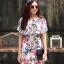 ชุดเดรสเกาหลี พร้อมส่ง Dress ปริ้นลายใบไม้ thumbnail 10