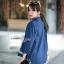 เสื้อเกาหลี คอปีนแขนสามส่วน พร้อมส่ง thumbnail 9